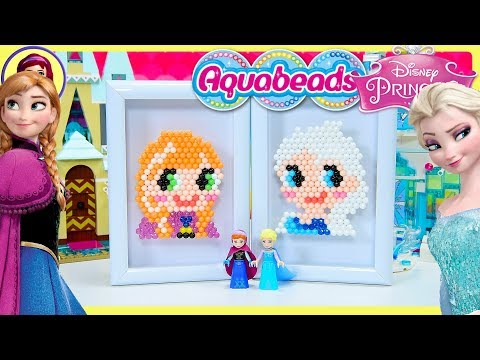 Aquabeads Frozen Elsa & Anna Portraits Craft Disney Princess Review Silly Play Kids Toys