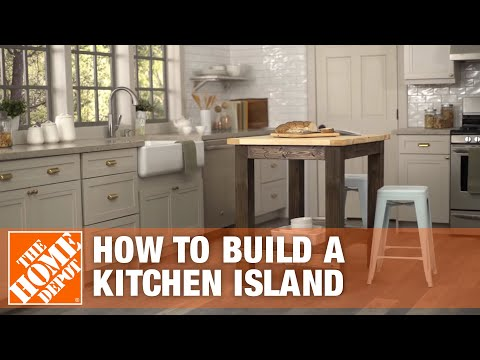 DIY Kitchen Island Build | The Home Depot