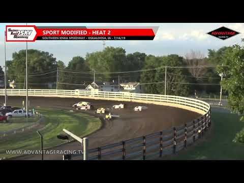 Sport Modified Heats - Southern Iowa Speedway - 7/16/19