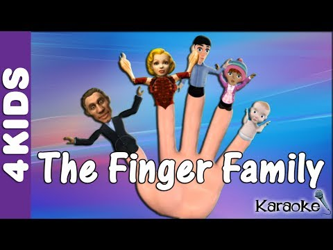 The Finger Family Nursery Rhymes | Karaoke | JUNIORS TOONS