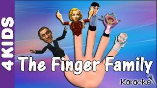 The Finger Family Nursery Rhymes | Karaoke | JUNIORS TOONS