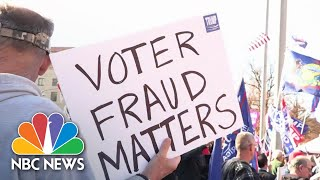 Trump Admin's False Election Claims Could Result In Voter Suppression Efforts   NBC News NOW