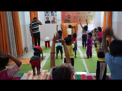 KIDS TRAINING BY YOGI HARI BHASKARAN @ NEYVELI LADIES CLUB
