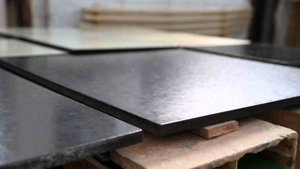 Lava stone glazed tiles, custom made countertops and sinks ...