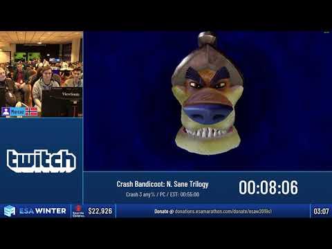 #ESAWinter19 Speedruns - Crash Bandicoot: N. Sane Trilogy [Crash 3 any%] by Murcaz