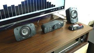 Logitech Z906 5.1 surround system sound/bass test [HQ]