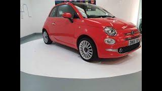 Glam Coral Fiat 500 Convertibl…