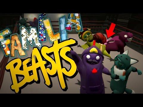 A GRANDE FAMÍLIA BEASTS + MAPA NOVO | Gang Beasts Online