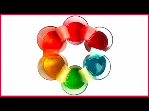 DIY Learn How To Make Colors - Crawling Colors Walking Water Easy Kids Science Experiment