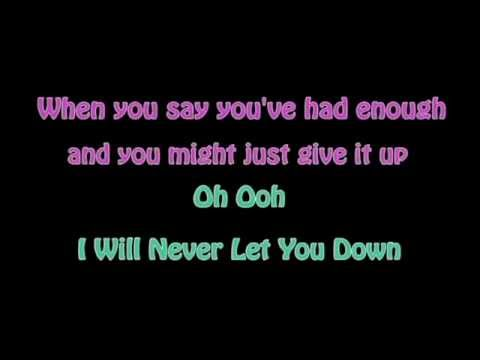 Rita Ora - I will never let you down (Karaoke) with back vocal