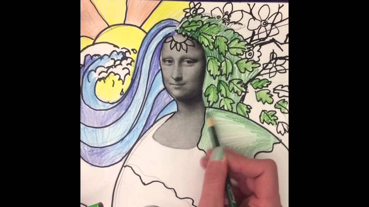Mona Lisa Madness Art Lesson Earth Day - YouTube