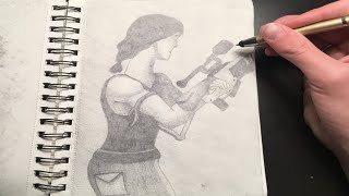 FORTNITE DRAWING TIME LAPSE! Sniper Sketch 25 DOC #11
