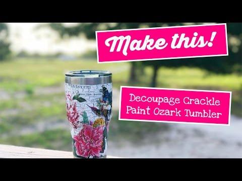 Ozark Tumbler Decoupage DIY Tutorial