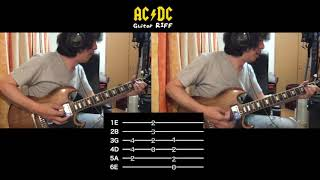 Overdose - AC/DC Guitar Riff Mini Tutorial