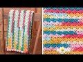 Sweet Welcome Baby Blanket using Lion Brand Ice Cream Big Scoop Yarn