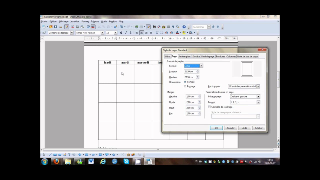 Openoffice modifier l 39 orientation d 39 une page youtube - Comment faire un organigramme open office ...