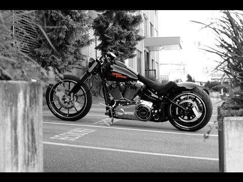 harley davidson breakout custom exhaust sound youtube. Black Bedroom Furniture Sets. Home Design Ideas
