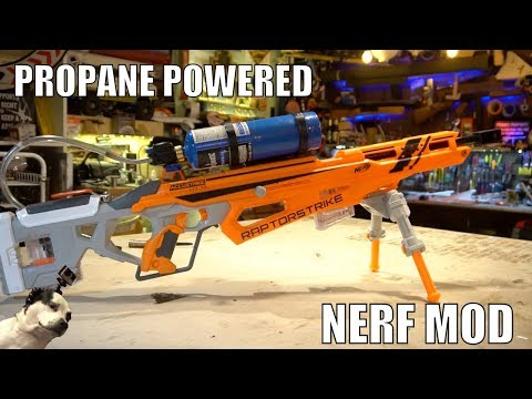 Propane Powered Nerf Blaster!