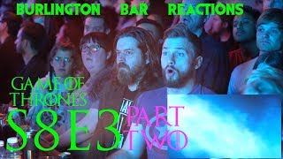 "Game Of Thrones // Burlington Bar Reactions // S8E3 ""The Long Night"" Part 2!!"