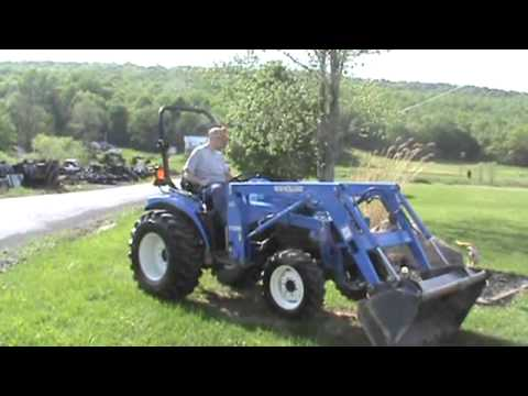2003 New Holland TC33D Super Steer Compact Tractor Loader 7038 For Sale