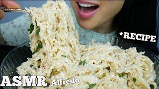 ASMR ALFREDO *EASY RECIPE WHAT NOT TO DO* (COOKING + EATING SOUNDS) NO TALKING  SAS-ASMR