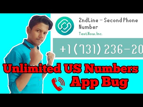 Unlimited Us Numbers 2nd Line -Second Phone Number APK Hack Crack Trick Bug  🔥