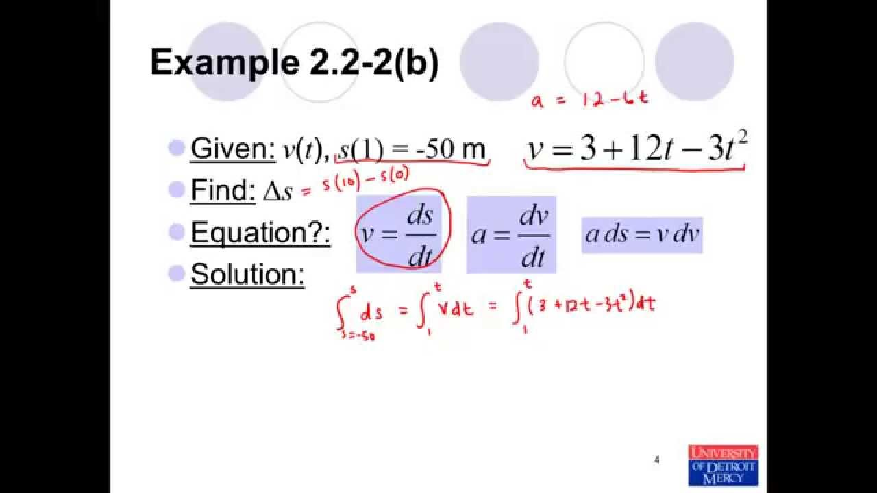 Conceptual Dynamics Example Problem 2 2 2 Rectilinear