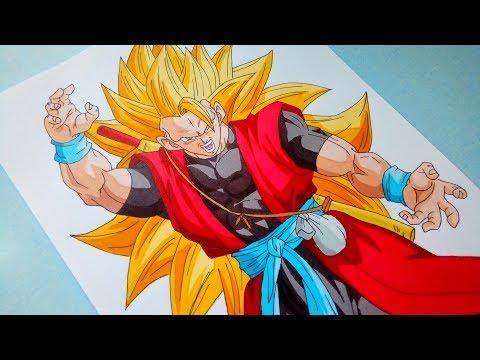 Speed Drawing - Xeno Goku Super Saiyan 3 孫悟空 :ゼノ