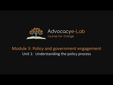 Unit 1: Understanding the policy process