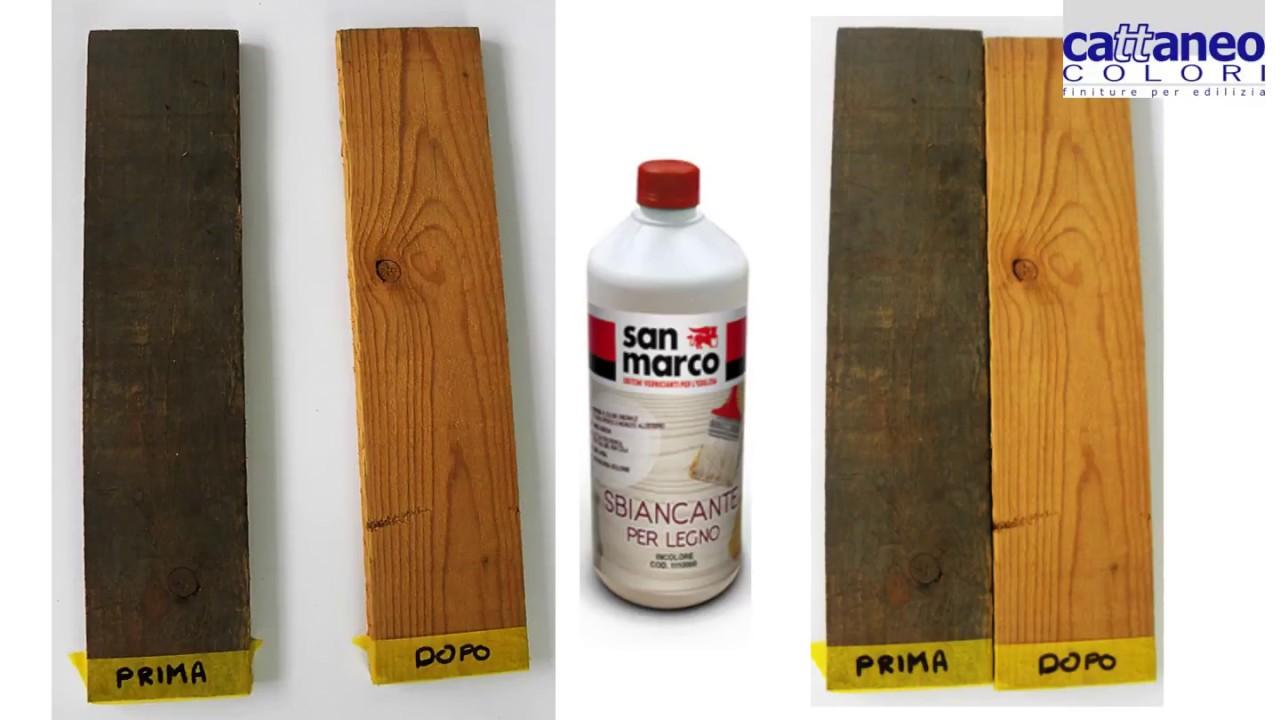 Come Sbiancare Il Legno video sbiancante per legno