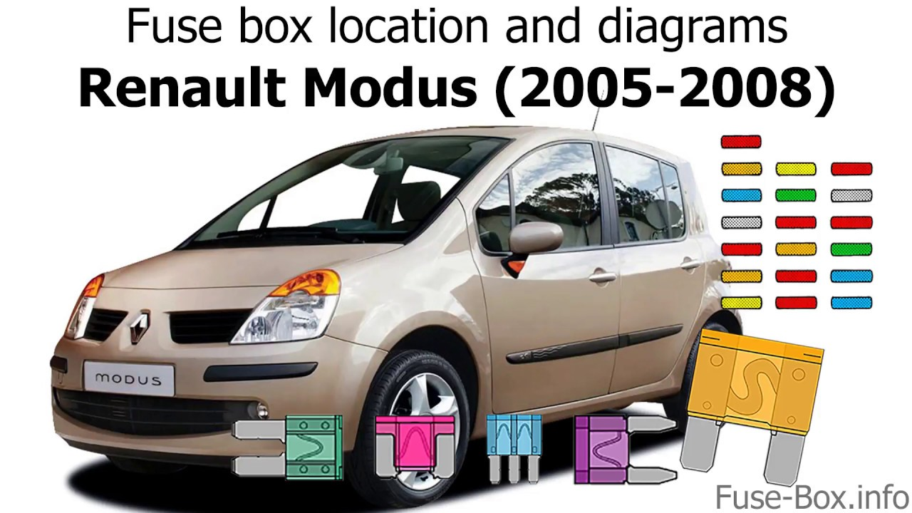 medium resolution of fuse box location and diagrams renault modus 2005 2008 youtube renault modus fuse box