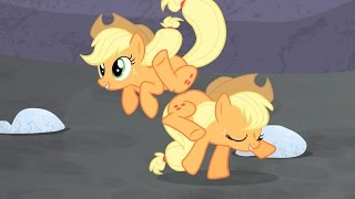 Applejack - Yee-haw! I can buck like a five-bit snake herder in an Appleloosa ranch house again!