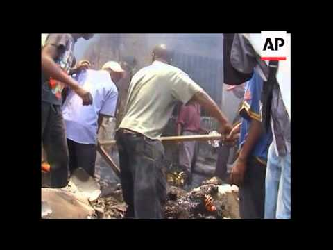 A cargo plane crashed in a residential neighborhood near the main airport in Congo's capital on Thur