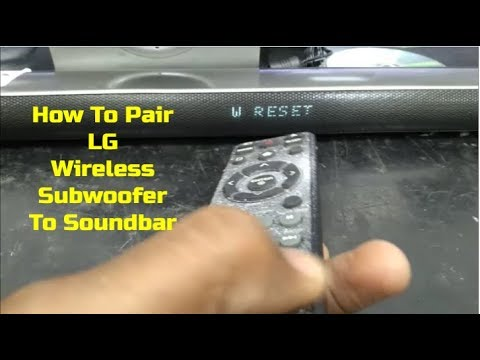how to connect lg wireless subwoofer
