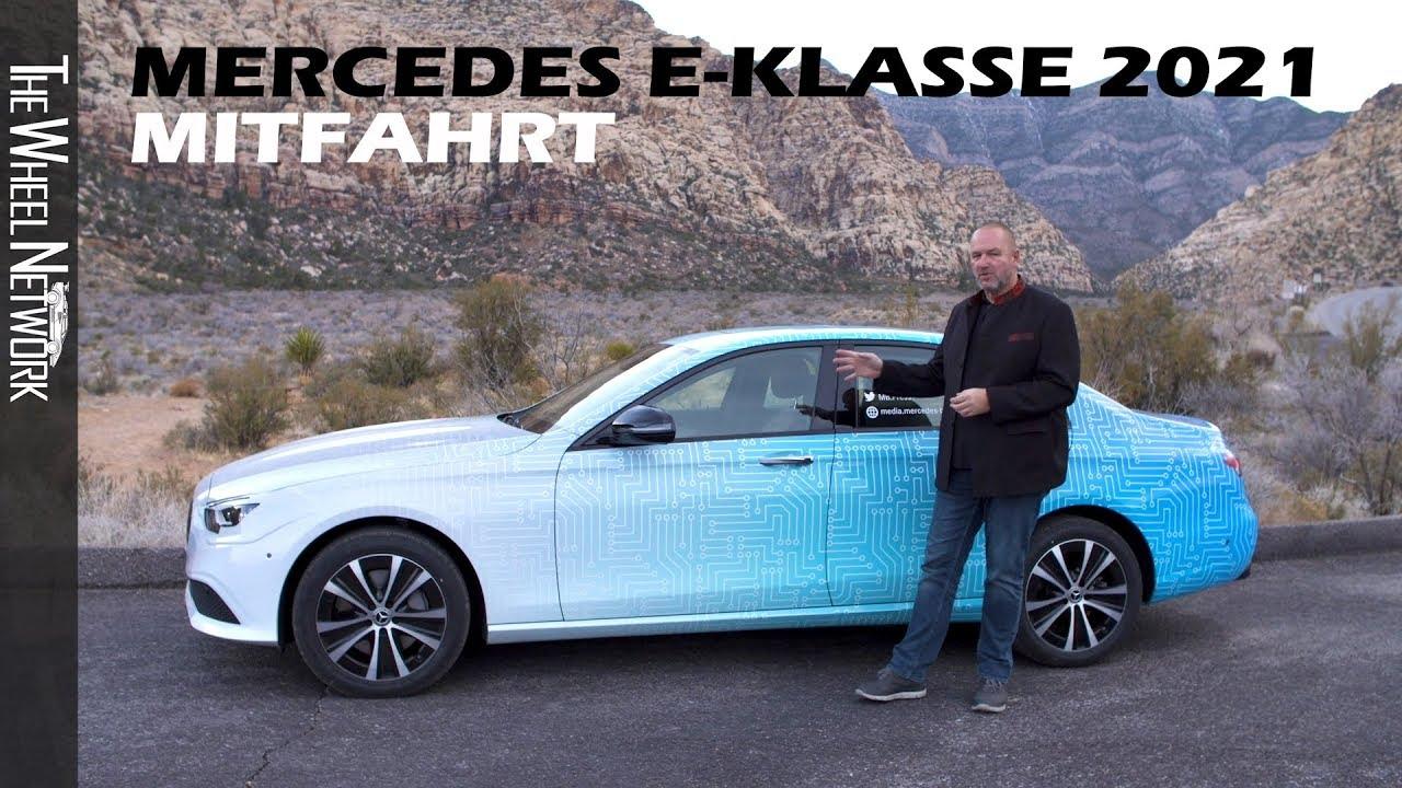 2021 Mercedes E-Klasse - Mitfahrt im E-Klasse Facelift ...