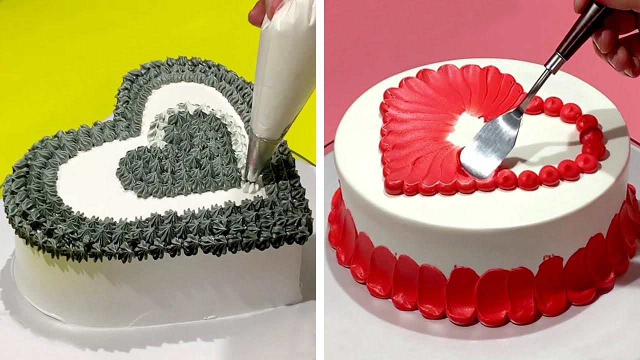 Download Best HEART Cake Decorating Ideas for Your Love | Easy Cake Decorating Tutorials by So Easy