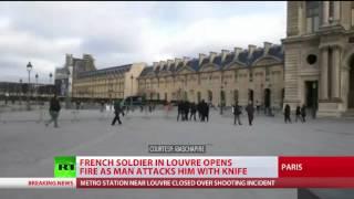Machete wielding man attacks soldier at Louvre, terror motives suspected