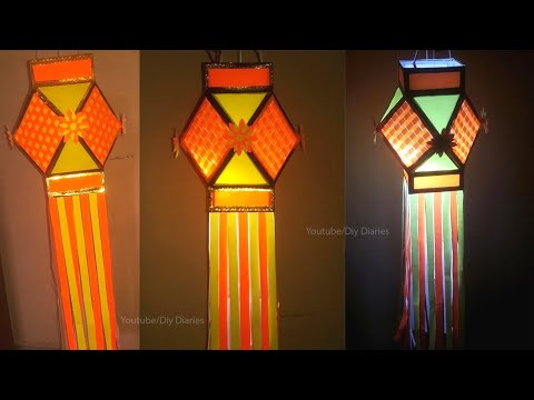 How to make Kandil/Lantern with Cardboard | DIY Akash Kandil |Traditional Akash Kandil