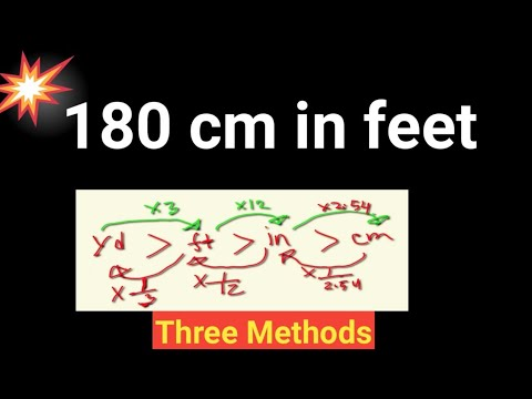 How much is 180 cm in feet