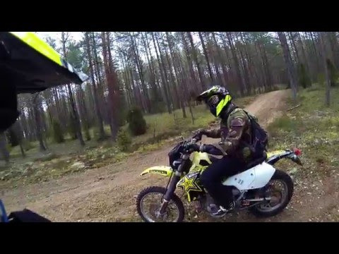 Adventure riding along Vilnius/Utena county woods