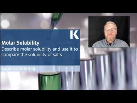 Chemistry Review: Describing Molar Solubility & Comparing Solubility Of Salts | Kaplan MCAT Prep