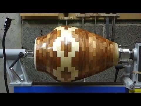 Tournage sur bois - Mon plus gros vase segmenté