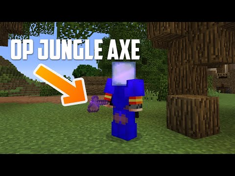 Hypixel Skyblock - GET WOOD FAST With The OP JUNGLE AXE!