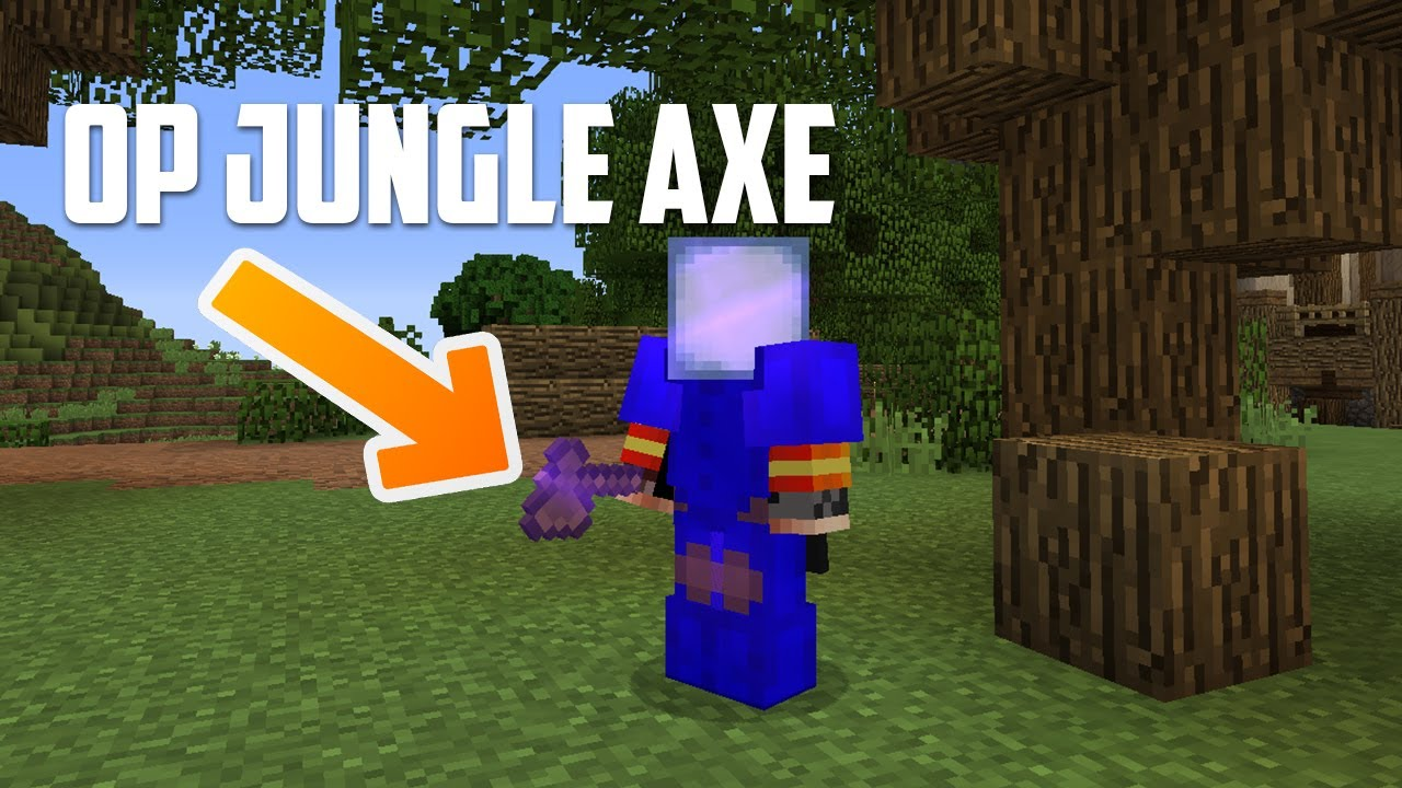 Hypixel Skyblock - GET WOOD FAST with the OP JUNGLE AXE