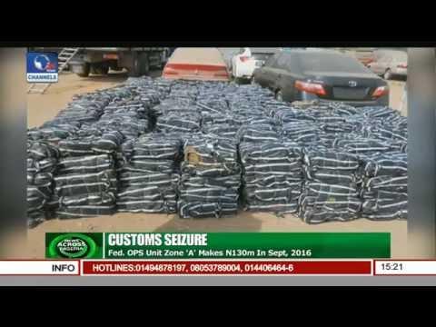 News Across Nigeria: Nigerian Customs Seize N130m Worth Of Goods In Sept , 2016
