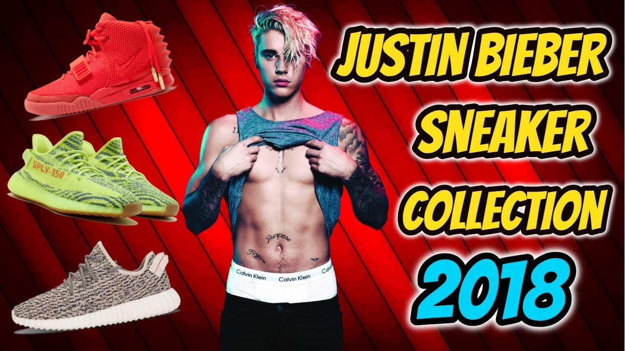5470c91bcc1c1 justin bieber shoes collection 2018 - YouTube