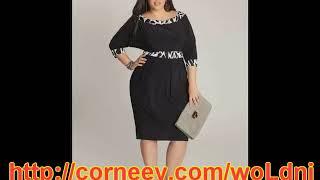 черное платье для полных женщин купить