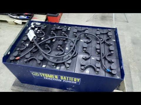 Тюменский тяговый аккумулятор. Восстановление и ввод в эксплуатацию с устранением косяков.