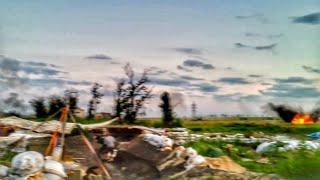 Авдеевка. Обстрел позиций ВСУ. 95 бригада 2 бат.