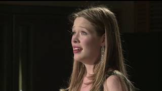 2018: Xenia Puskarz Thomas, mezzo soprano. Semi-Finals Concert, second performance (Ghedini)